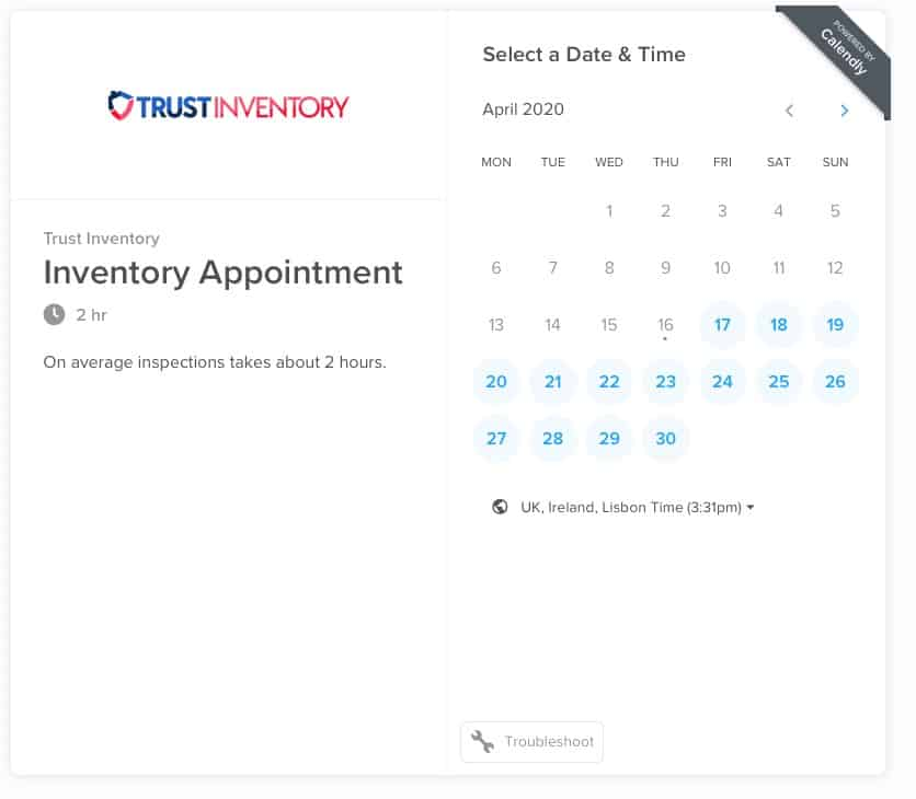How to book a property inventory online